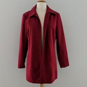 Lipstick Red Raincoat Jacket